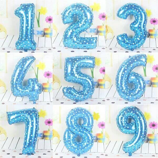 Compre 40 Pulgadas Tamaño Grande Azul Número 1 9 Globo De Papel De Aluminio Con Helio Boda De Navidad Cumpleaños Fiestas De Cumpleaños Artículos