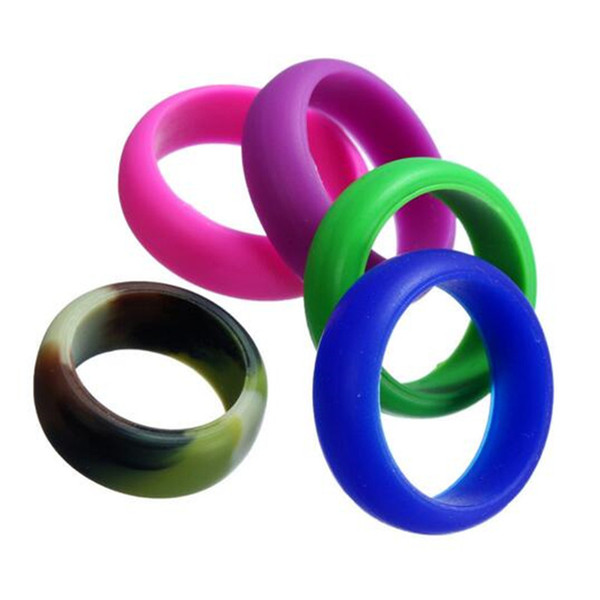 Silicone Band Rings Multicolor Wedding Sports Ring Sweat Uptake Bodybuilding For Sports Enthusiast For DHL Free Shipping