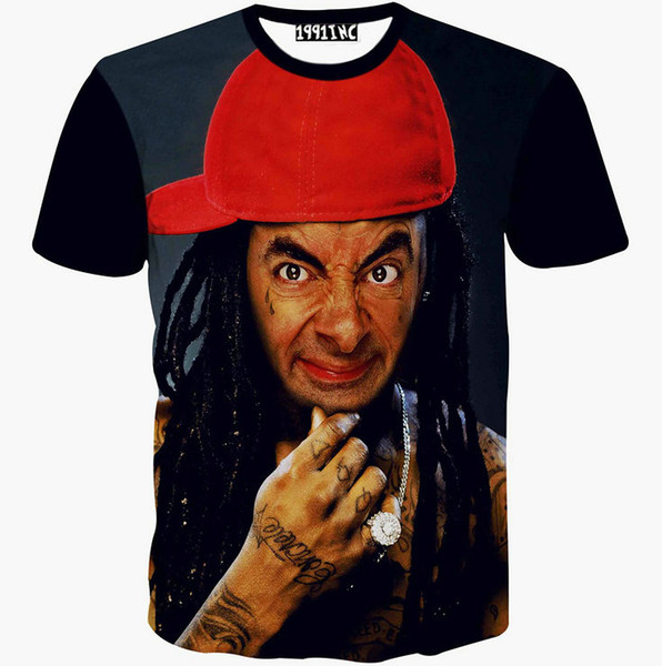Mr Bean T shirt Famous comedy star short sleeve gown Cool leisure tees Nice printing clothing Unisex cotton Tshirt