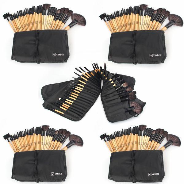 Vander 5 x 32pcs/Set Lots Makeup Brushes Tools Foundation Face Eye Powder Blusher Professional Cosmetics Makeup Brush With Bag