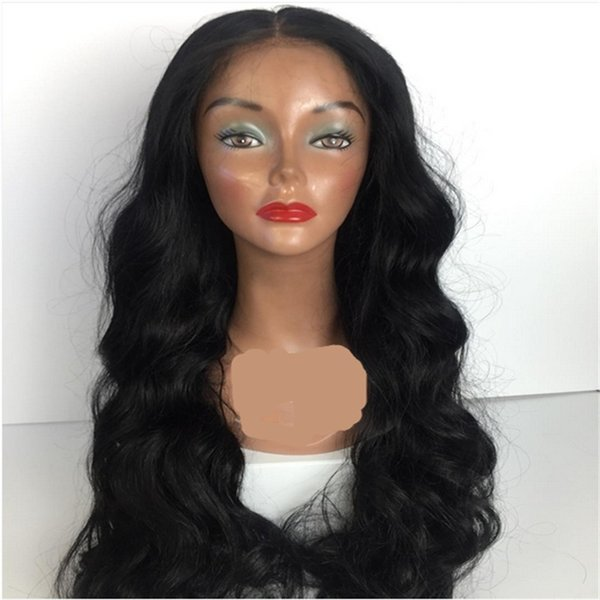 Human Hair Full Lace Wig Peruvian Body Wave Lace Front Wigs Glueless U Part Wigs Fast Shipping