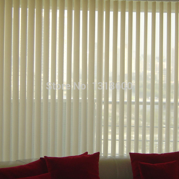 Wholesale-New arrival translucent plastic pvc blinds louver window curtain vertical blinds finished product from DTextile M 04