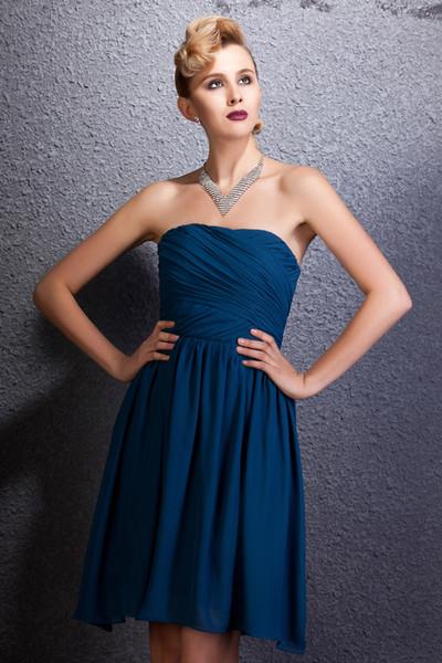 New Designer A Line Fashionable Bateau Short Mini Homecoming Dress Popular Bridesmaid evening dress Bridal party dress Prom gown
