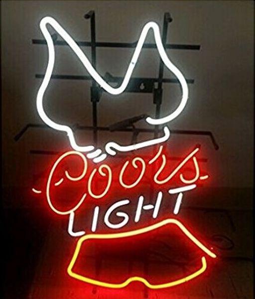 "24""x20"" Coors Light Hooters Custom Handmade Glass Tube Neon Light Sign"