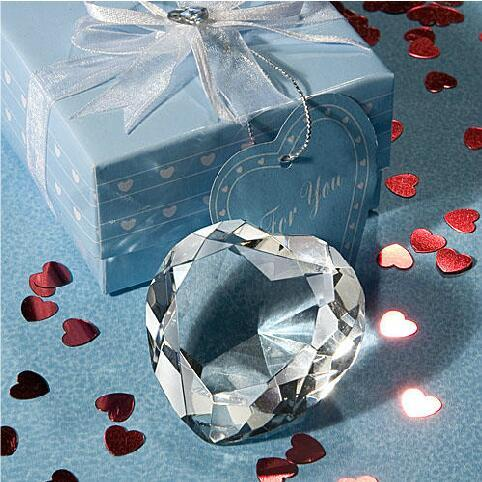 Crystal Lover Gift Heart-shaped Ornaments Parts K9 Crystal Baby Shower Gift Accessories Home Wedding Decoration Ornament