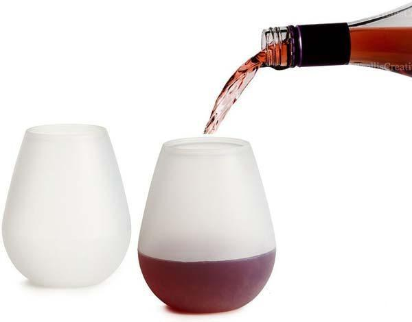 New Design Fashion Unbreakable clear Rubber Wine Glass silicone wine glass silicone wine cup glasses