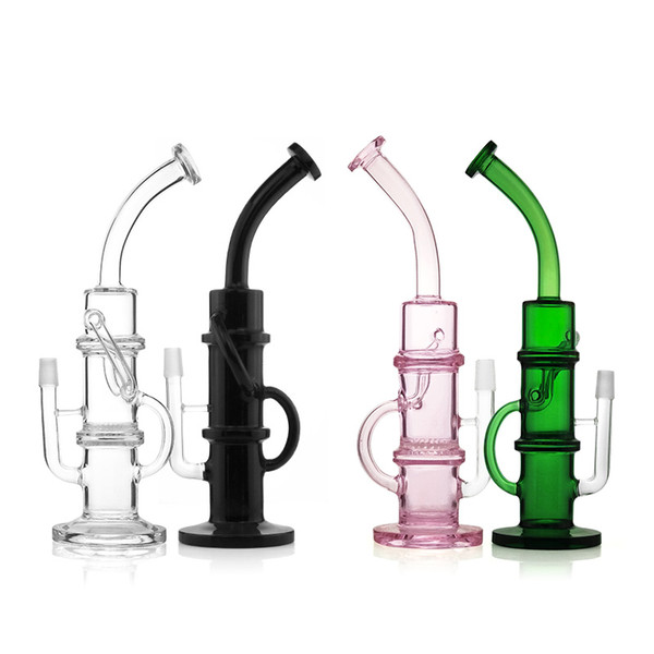 Top quality 18 mm female/male joint bong oil rig pipe 15 inch recyler bong water bongs glass bongs