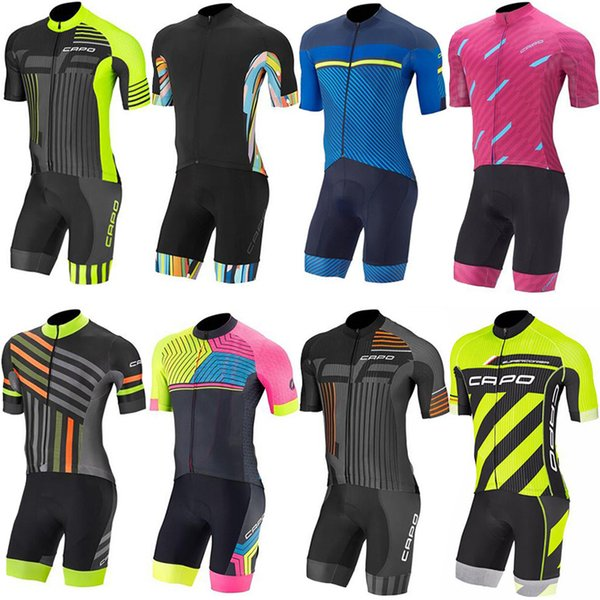 14 Colors CAPO 2017 Cycling Jerseys Set Short Sleeves Summer Style For Men Women Overall Bike Wear Size XS-4XL Bicycle Clothing