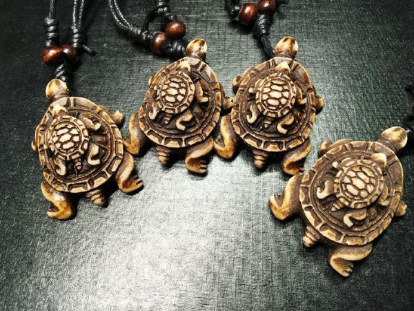 free shipping Yqtdmy 12 PCS Imitation Carved turtles Newest Design Surfing Biker necklace