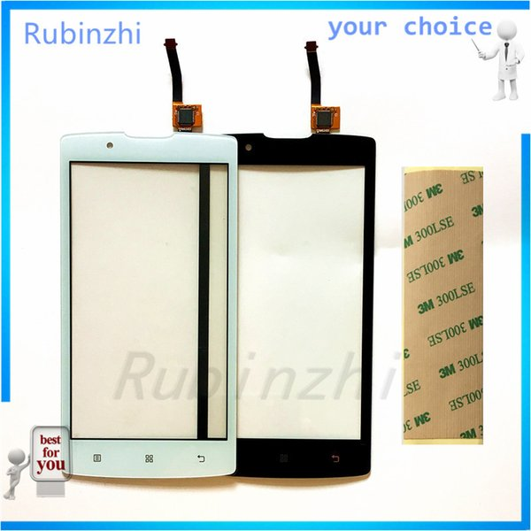 Wholesale- RUBINZHI Mobile Phone Touch Panel For lenovo A2010 A 2010 Touch Screen Front Glass Capacitive sensor Touch Screen Sensor +Tape