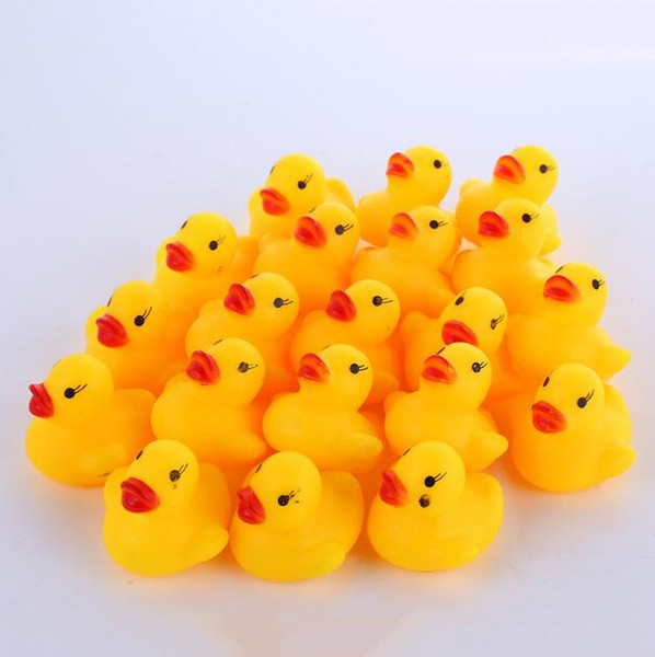 best selling Baby Bath Toys Baby Kid Cute Bath Rubber Ducks Children Squeaky Ducky Water Play Toy Classic Bathing Duck Toy