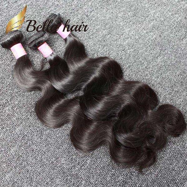 4pcs/Lot Indian Hair Extension Natural Color Body Wave Wavy Human Hair Weave Free Shipping Bella Hair