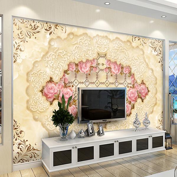 High quality 3D photo wall mural Art Wall living room textile wallpaper Home improvement flower arch bridge porch paper wall