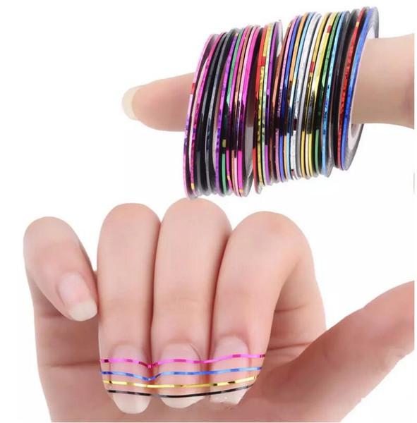 Rotoli di colori misti Striping Tape Line Consigli per nail art Adesivo per decorazioni Beauty Decor Sticker Adesivi per unghie Accessori per l'arte