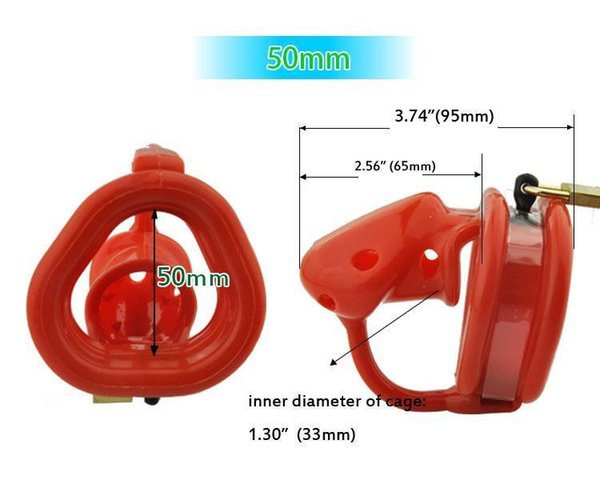 red 50mm ring