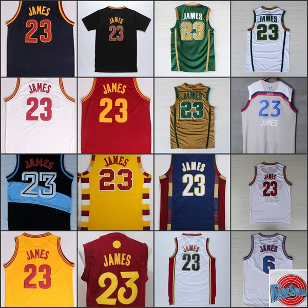 quality design 56d1e 2121b 2019 Cheap #23 Lebron James Jersey Team Red Blue Yellow White Throwback  Black Stitched Lebron James Jerseys Sports Shirt Uniform From Gootto,  $14.22 | ...