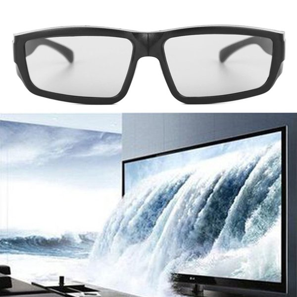 Atacado-1Pc Óculos 3D passivos Preto H4 Circular Polarized 3D Visualizador Cinema Pub Sky Cinema-50PA