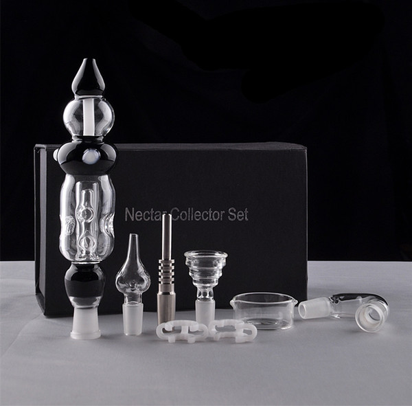 Cheap Black Nectar Collector Set 3.0 Updated From Nectar Collector 3.0 With Titanium Nail Bongs Water Pipes