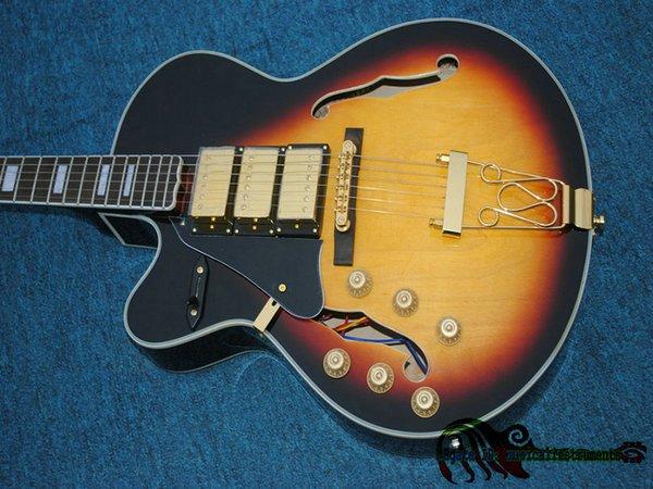 Großhandel Linkshänder Gitarren 3 Pickups E Gitarre Gold Hardware ...