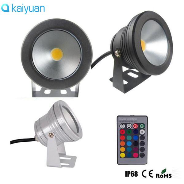 10pcs 12V ou 110V 220V 10W RVB sous-marin IP68 LED lumière lampe d'inondation Pool Light ampoules fontaine Aquarium Projecteur chaud blanc lampe de spot de lavage