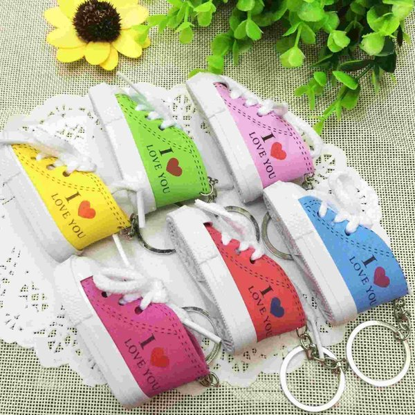 Lovely love you small shoes Key Button Pendant bag wholesale nursery school activities and gifts business occasions