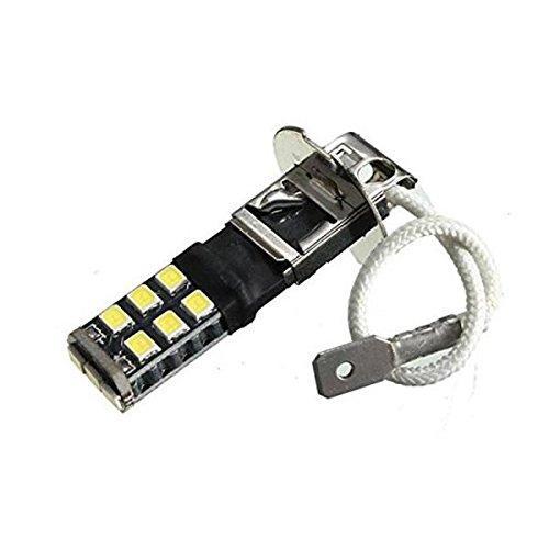Brouillard haute puissance entraînant DRL LED lampe de voiture 12V lampe frontale super lumineux blanc H3 2835 15smd Canbus sans erreur LED