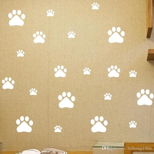 Duvar Çıkartmaları Çıkarılabilir Sevimli Ayak Izi Duvar Boyama Malzemeleri Sanat PVC Vinil Eko Dostu Ev Dekor Çıkartması 2 8tm J R