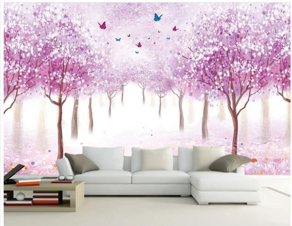 Carta da parati 3d per camera personalizzata carta da parati per pareti Fiori romantico nostalgico sfondo muro 3d murales carta da parati per soggiorno
