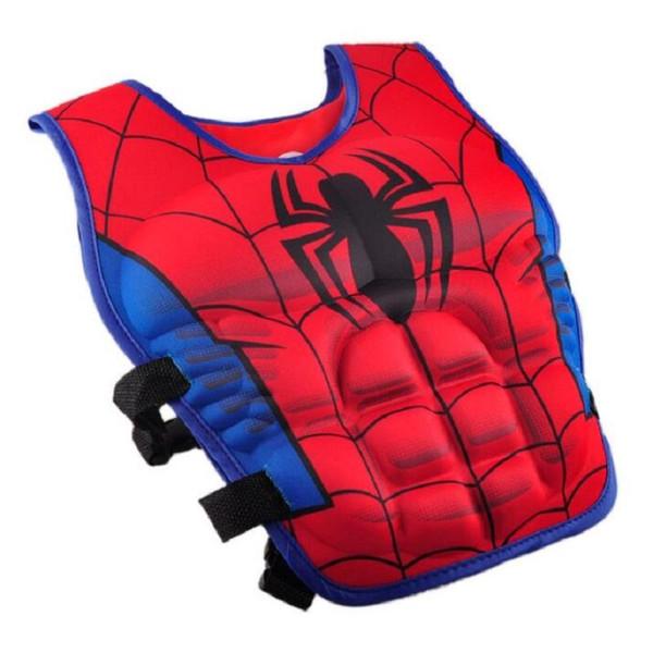 top popular Cartoon Kids Life Jacket Vest Superman Batman Spiderman Swimming Jacket Children Fishing Superhero Swimming Pool Accessories Free Shipping 2019