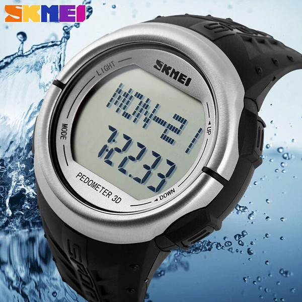 SKMEI 1058 Brand Sports Wristwatches Pedometer Heart Rate Monitor Calories Counter Fitness For Men Women Digital LED watches