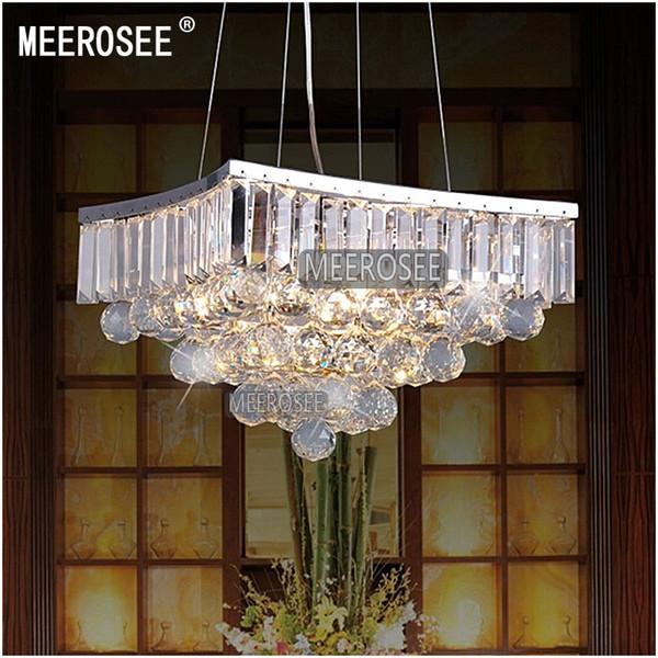 Square Shape Crystal Pendant Lamp / Light / Lighting Fixture for Dining Room, Crystal Suspension Light MD8795