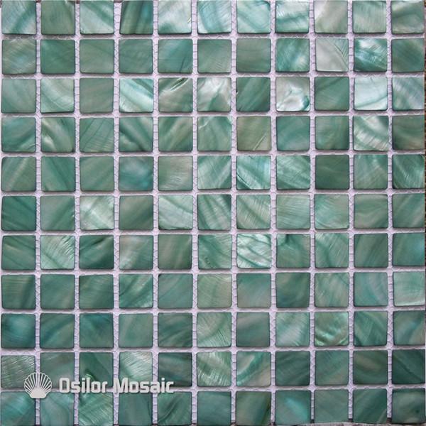 Acquista Piastrella Mosaico Madreperla Cinese Tinto Verde Acqua