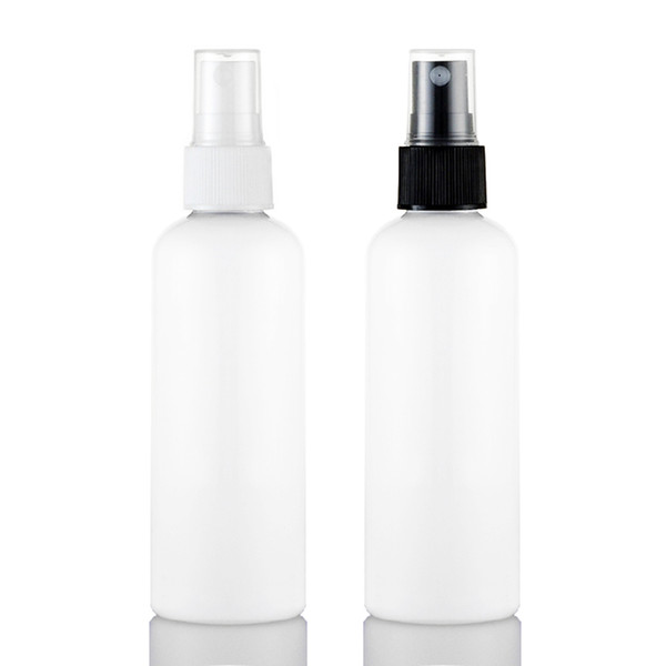 50pcs 100ml empty White spray plastic bottle PET,100CC small travel spray bottles with pump , refillable perfume spray bottles lots