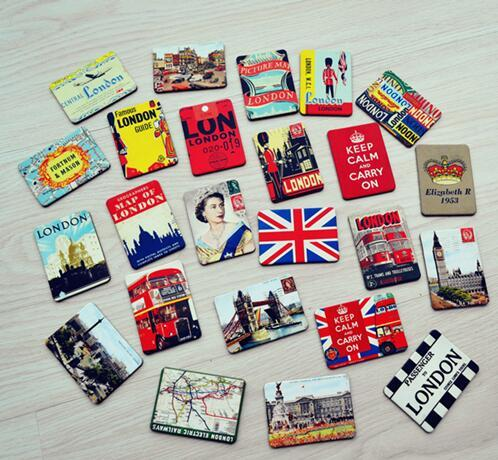 24 Piece Magnetic fridge magnets London scenery home decoration accessories magnetic paste Arts/Crafts