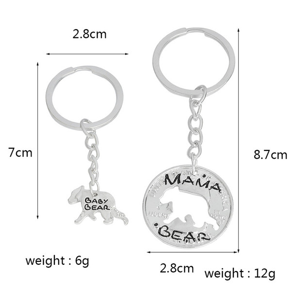 Fashion Jewelry Mama Bear Baby Bear Pendant For Women Girls Cute Silver Color Chain Necklaces free shipping