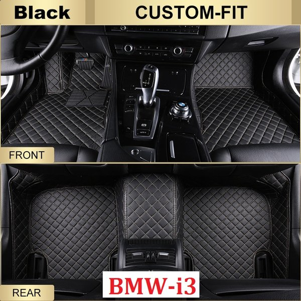 SCOT Custom Fit Car floor mats for BMW i3 2014-2017 All Weather Waterproof Anti-slip 3D Front & Rear Carpets Left-Hand-Driver-Model