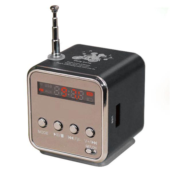 Toptan Satış - TD-V26 Mini Hoparlör Taşınabilir Dijital LCD Ses Mikro SD / TF FM Radyo Müzik Stereo Hoparlör Dizüstü Cep Telefonu MP3 için