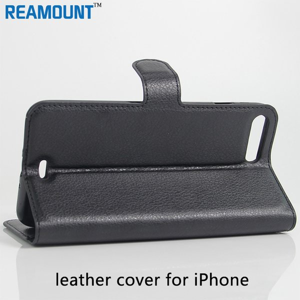 Book Style Wallet Litchi Leather Case for iphone 7 for iphone 7 plus Case Flip Cover with Card Slot Holders Stand Function