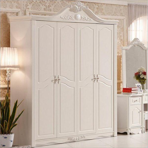 hot selling new arrival four door wardrobe modern European whole wardrobe French bedroom furniture wardrobe pfy10036