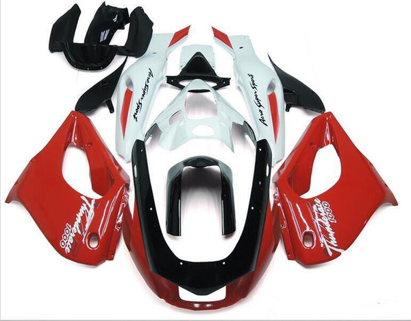 Three free beautiful gift and new high quality ABS fairing plates for YAMAHA Thunderace YZF1000R 1996-2007 good red white vs black