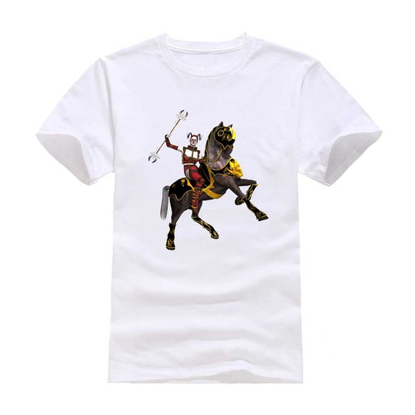 Girl horse armor warrior New Fashion Man T-Shirt Cotton O Neck Short Sleeve Personalized unique Male Tops Tees Wholesale