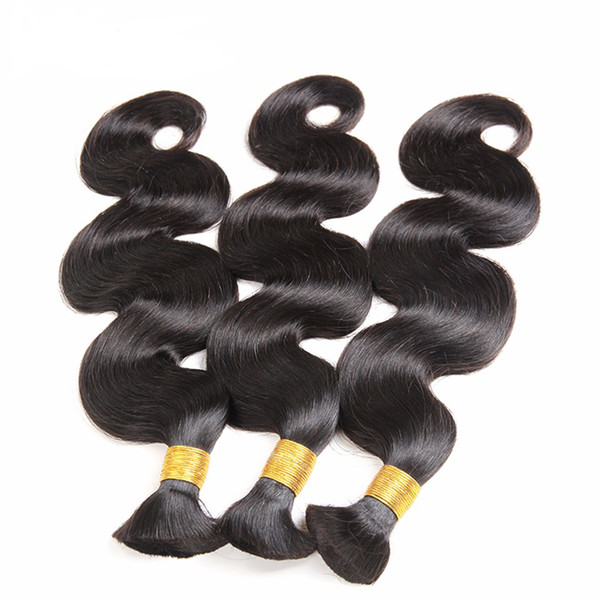 """best selling Grade 5a virgin body wave hair 3pcs lot 12- 28"""" no weft human hair bulk for braiding unprocessed hair products"""