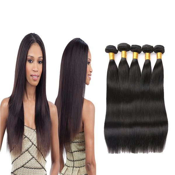 8A Grade Peruvian Straight Hair Bundles Non-Remy Human Hair Weaves 100% Natural Weave Hair Extensions 3 or 4 Bundles