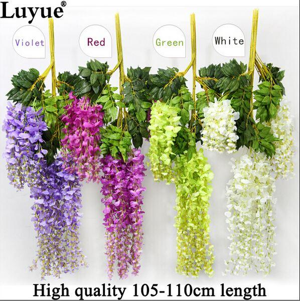 Wedding Decoration Silk Flower Garland Artificial Flower Wisteria Vine Rattan For Party Home Garden Hotel decor
