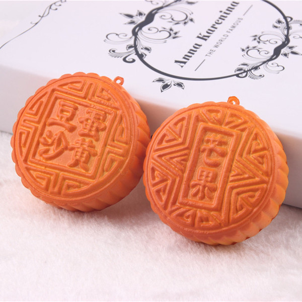 Simulation 7cm moon cake pendant with fragrant soft cakes mid autumn festival gifts