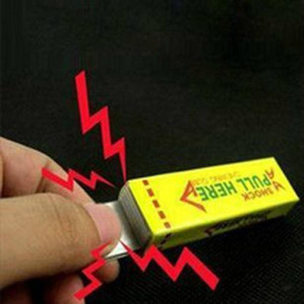 Nuovi giocattoli interessanti Shock elettrico Shocking Funny Pull Head Gomma da masticare Gag Safety Trick Joke Toy Novità Articoli Prezzo più basso