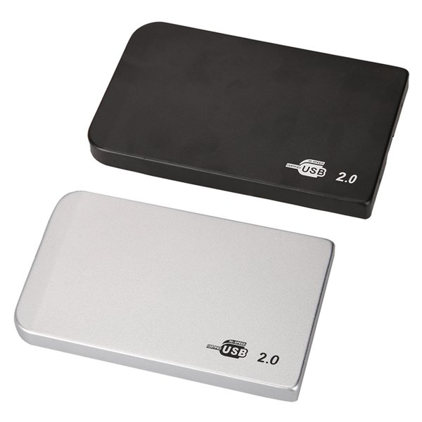Wholesale- USB to IDE External Enclosure Case for Hard Drive HDD 2.5 Inch USB 2.0 IDE 500GB-2TB Hdd Ultra Thin Case for Windows/Mac OS