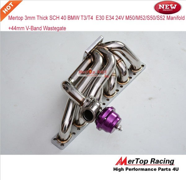 2019 Mertop Race Update 3 0mm Thick Polished B** T4/T3 Turbo Manifold E30  E34 24V M50/M52/S50/S52 + 44mm V Band Wastegate From L657533904, $367 84 |