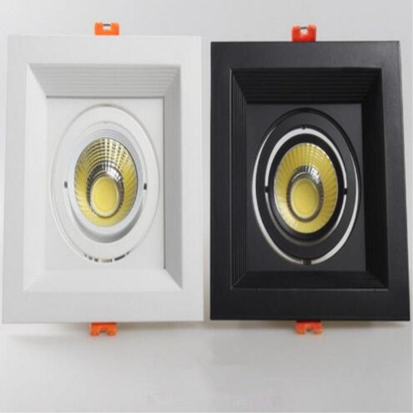 High Brightness COB Double head Square led downlight Dimmable 10W 20W led Recessed ceiling Down light lamp for Home Lightling