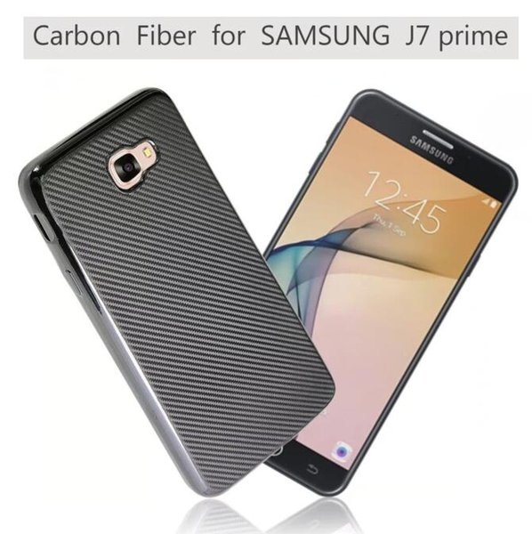 Carbon fiber Soft TPU Case For Samsung Galaxy J5 Prime J7 Prime On5 On7 2016 J510 J710 J1 MINI J2 Grand Prime G530 Skin Cover Luxury 10pcs